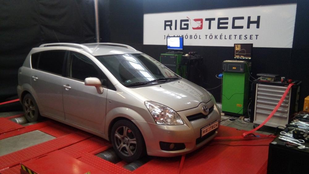 Toyota Corolla Verso 2009 2.2D egyedi Rigotech PPro beállítássorozat!