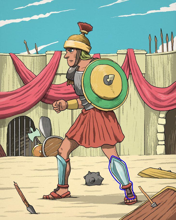 12. Megoldás: Hol van a gladiátor kardja?