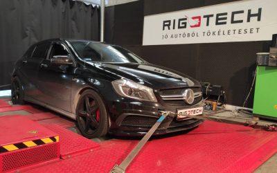 Mercedes tuning – A45 AMG 2.0 Ti 360LE 450NM chiptuning – újratuning!