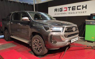 Toyota Hilux chiptuning 2021-es 2.8D 204LE új toyota mérések, eredmények